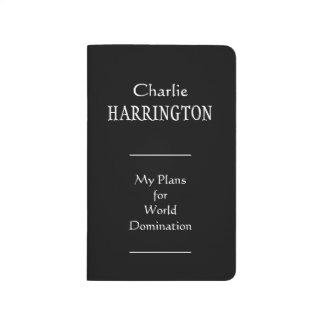 """World Domination"" custom pocket journal"