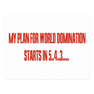 World Domination Postcard
