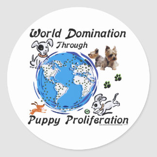 World Domination Puppy Proliferation Sticker