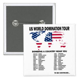 World Domination Tour Pinback Buttons