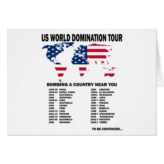 World Domination Tour Card