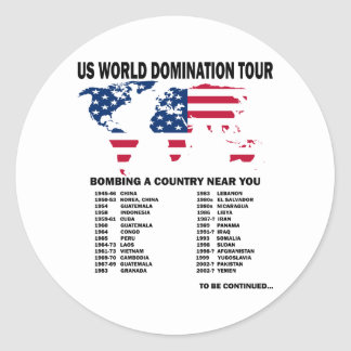 World Domination Tour Stickers