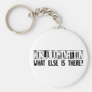 World Domination What Else Is There? Basic Round Button Keychain