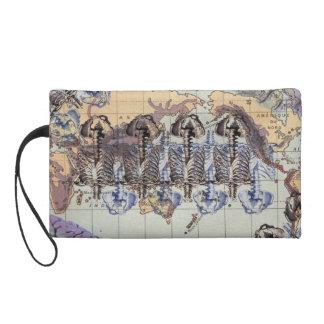 World domination wristlet purse