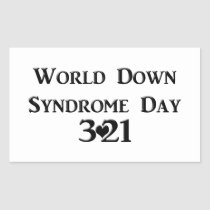 World Down Syndrome Day Rectangular Sticker