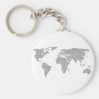 world earth pattern keychain
