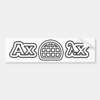 World Eigenvalue Day Bumper Sticker