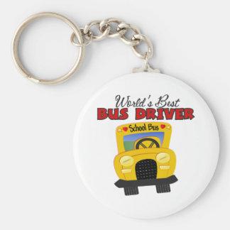 World' el mejor conductor del autobús de s llavero personalizado