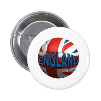 World England 2 Inch Round Button