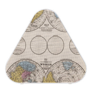 World Equatorial Projection and Polar Projection Bluetooth Speaker