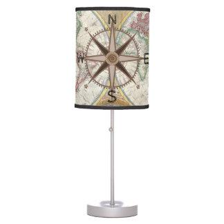World Explorer Map Compass Hot Air Balloons Desk Lamp