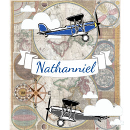 Old world map throw fleece custom blankets zazzle world explorer vintage airplanes personalized baby blanket gumiabroncs Image collections