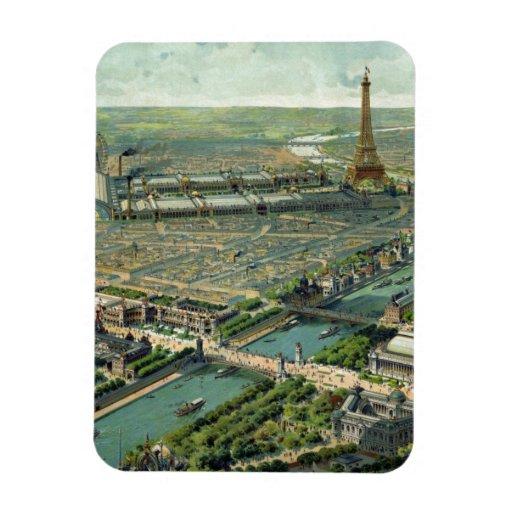 World Expo 1900 Paris France Flexible Magnets