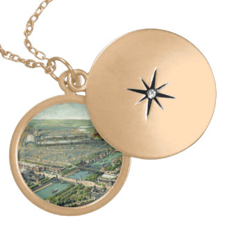 World Expo 1900 Paris France Locket Necklace