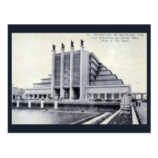 World expo 1935 Brussels art deco architecture Postcard