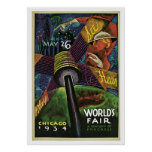 World Fair Chicago 1934: See, Hear, Play Poster