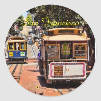 World Famous Cable Cars Classic Round Sticker