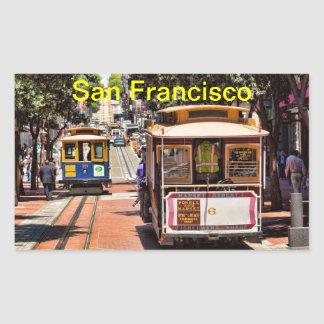 World Famous Cable Cars Rectangular Sticker