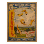 World Famous Silbons Barnum & Bailey Circus Poster