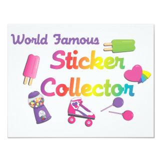 World Famous Sticker Collector 4.25x5.5 Paper Invitation Card