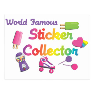 World Famous Sticker Collector Postcard