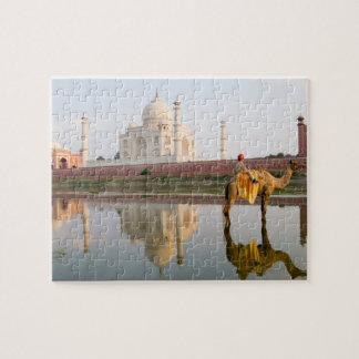 World famous Taj Mahal temple burial site at Puzzle