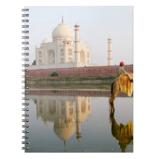 World famous Taj Mahal temple burial site at Spiral Notebook