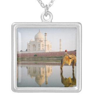 World famous Taj Mahal temple burial site at Square Pendant Necklace