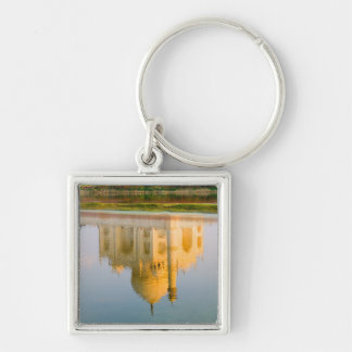 World famous Taj Mahal temple reflection at Keychain