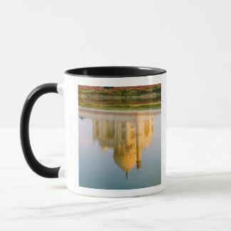 World famous Taj Mahal temple reflection at Mug