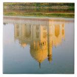 World famous Taj Mahal temple reflection at Ceramic Tile
