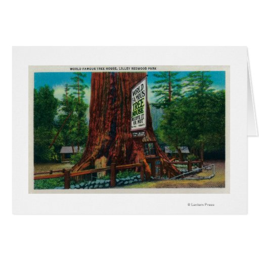 World Famous Tree House, Lilley Redwood Park Greeting Card