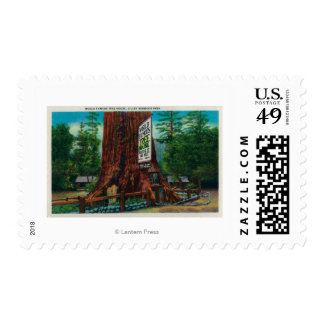 World Famous Tree House, Lilley Redwood Park Postage Stamp
