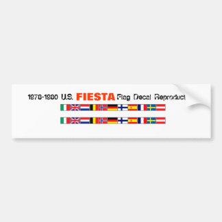World Fiesta Flags Car Bumper Sticker