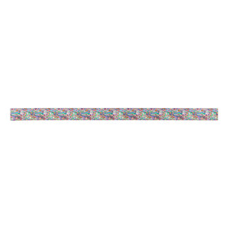 World Flag Collage Satin Ribbon