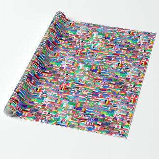 World Flag Collage Wrapping Paper