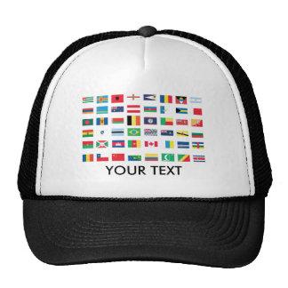 World Flag Hats