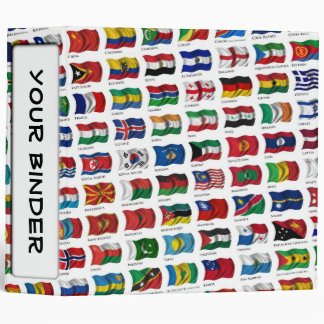 "World Flags 2"" Binder"