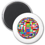 WORLD FLAGS 2 INCH ROUND MAGNET