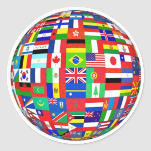 WORLD FLAGS CLASSIC ROUND STICKER