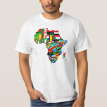 World flags - Flag map of Africa African love T-Shirt