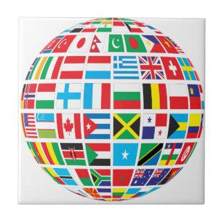 World Flags Globe Tile