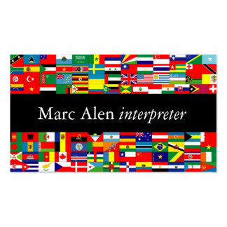 World Flags Interpreter Translator Business Card