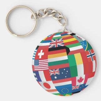 World Flags Keychain