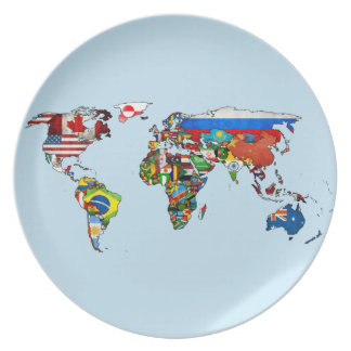 Image result for world flags on a plate