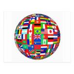 WORLD FLAGS POSTCARD