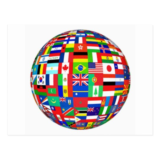 WORLD FLAGS POSTCARD