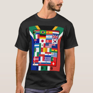 World Flags Soccer 2010 Basic Dark T-Shirt