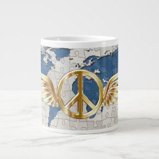 World flying peace giant coffee mug