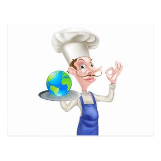 World Food Chef Postcard